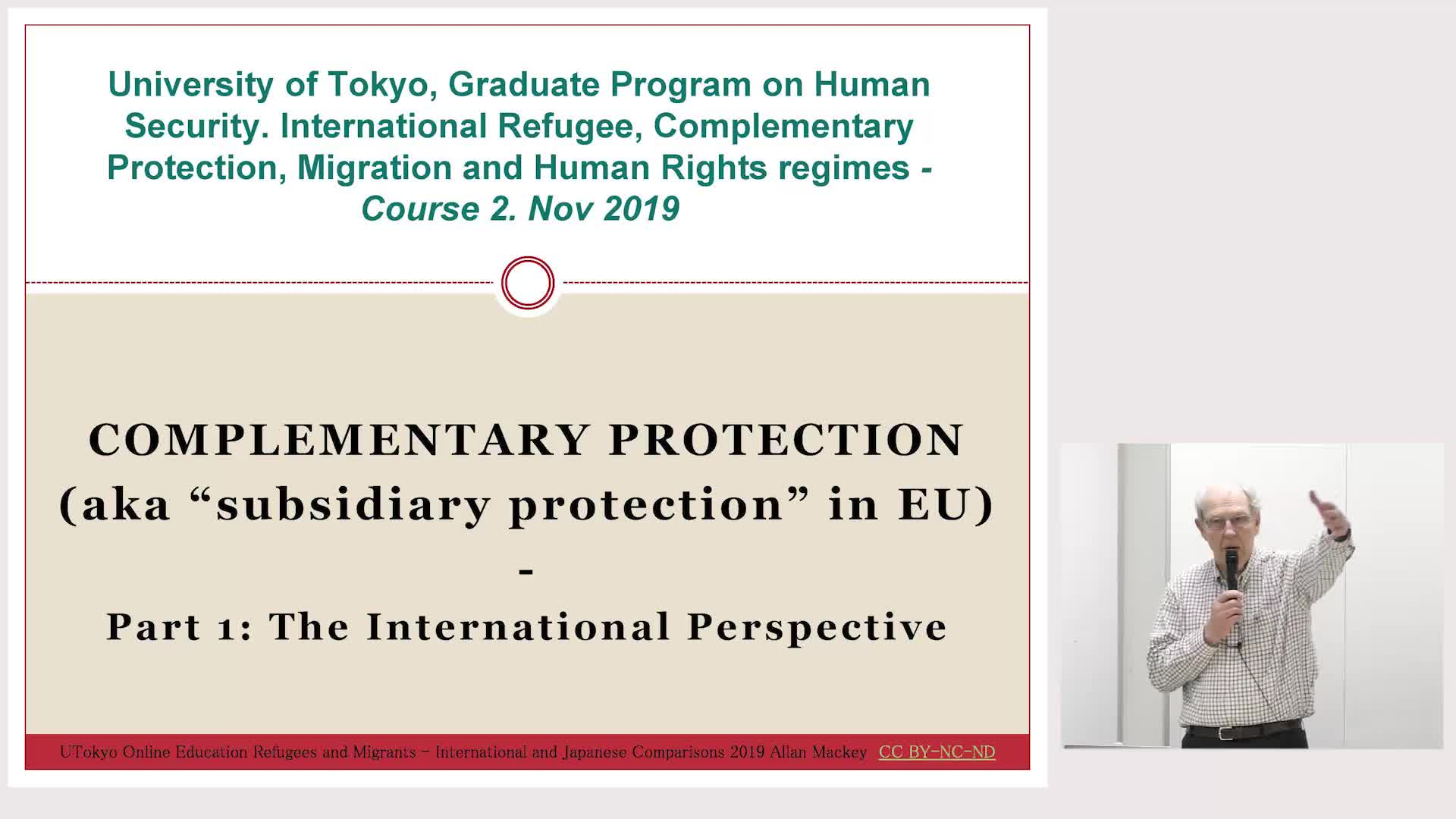 Refugees and Migrants - International and Japanese Comparisons (1)