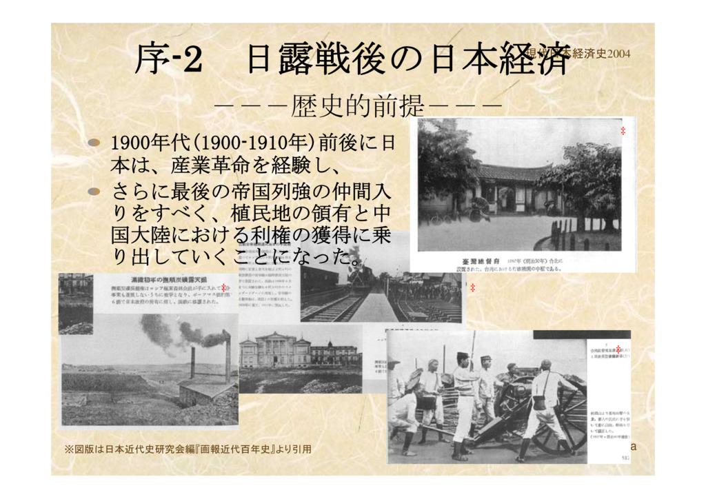 2 日露戦後の日本経済---歴史的前提