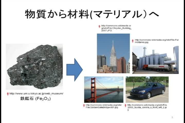 物質から材料として使われるまで-鉄鋼材料を例として